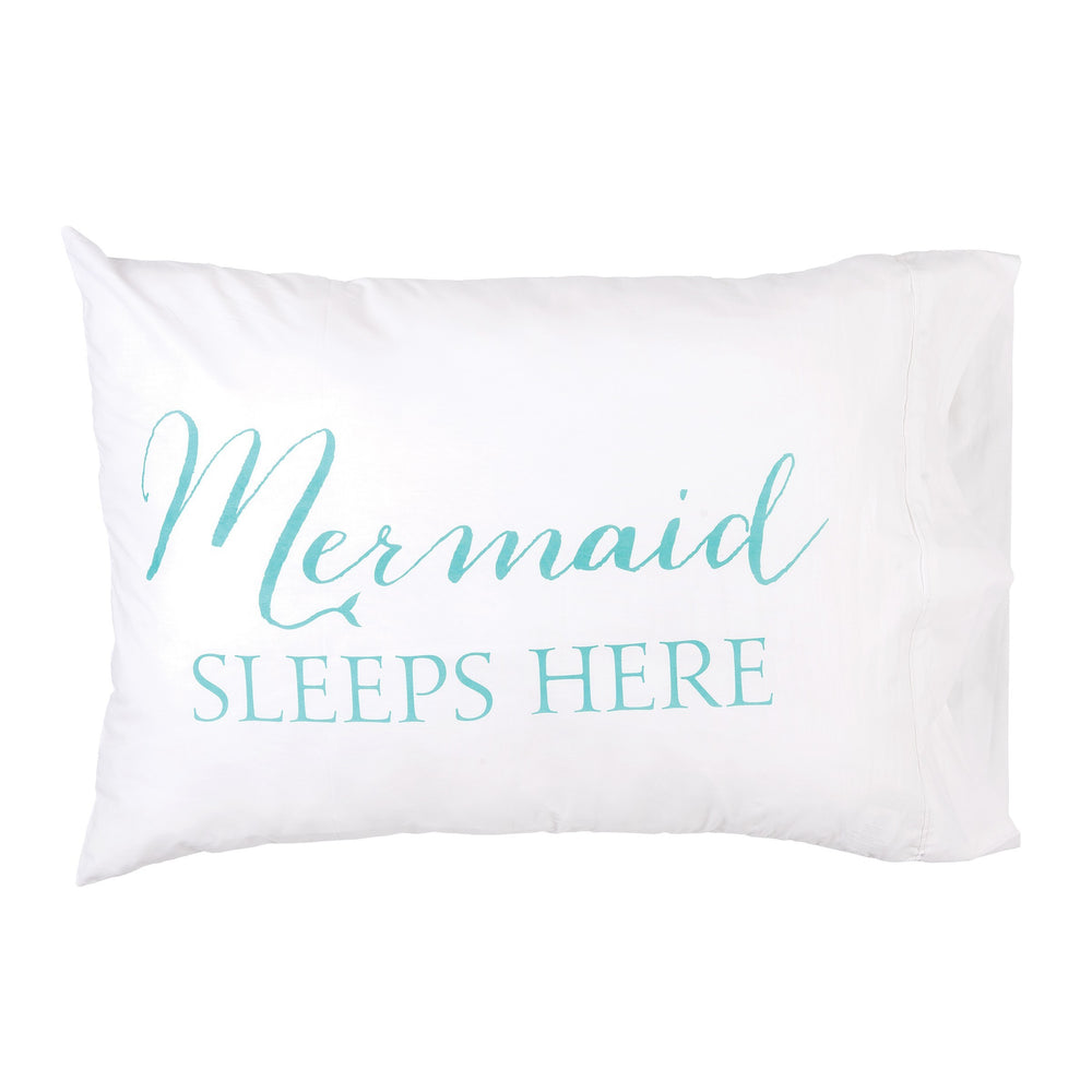 Mermaid Sleeps Here Pillowcase