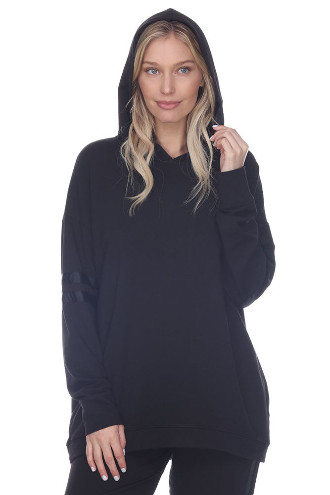 Destiny French Terry Hooded Sweatshirt With Satin Trim