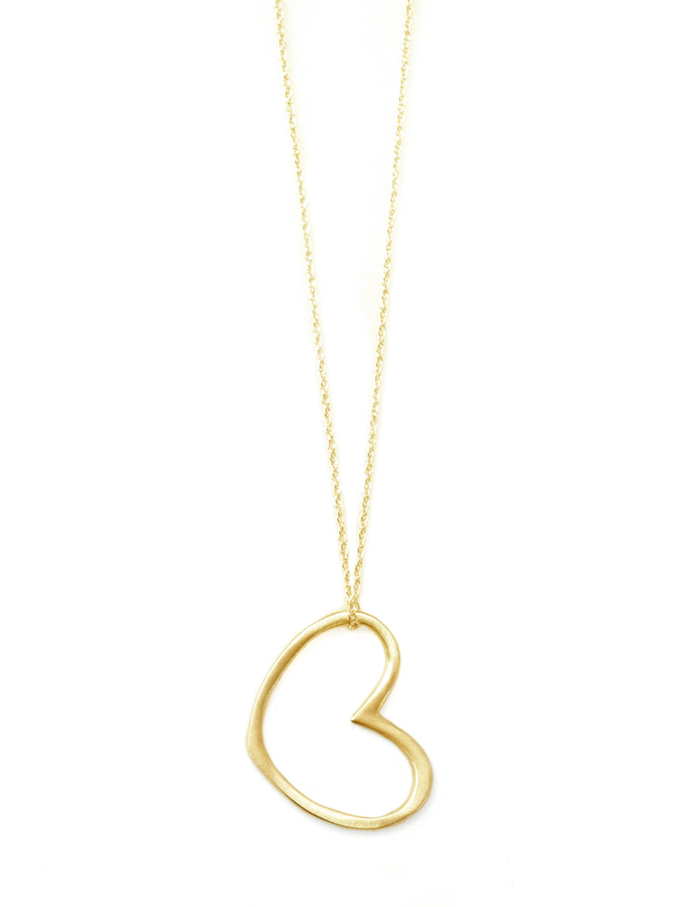 Large Open Heart Vermeil Necklace