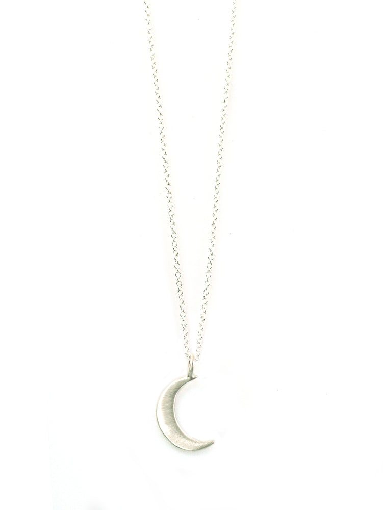 Small Moon Silver Necklace