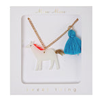 Unicorn Tassel Necklace