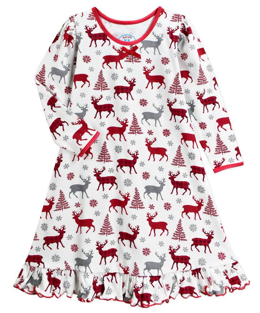 Winter Reindeer Nightgown