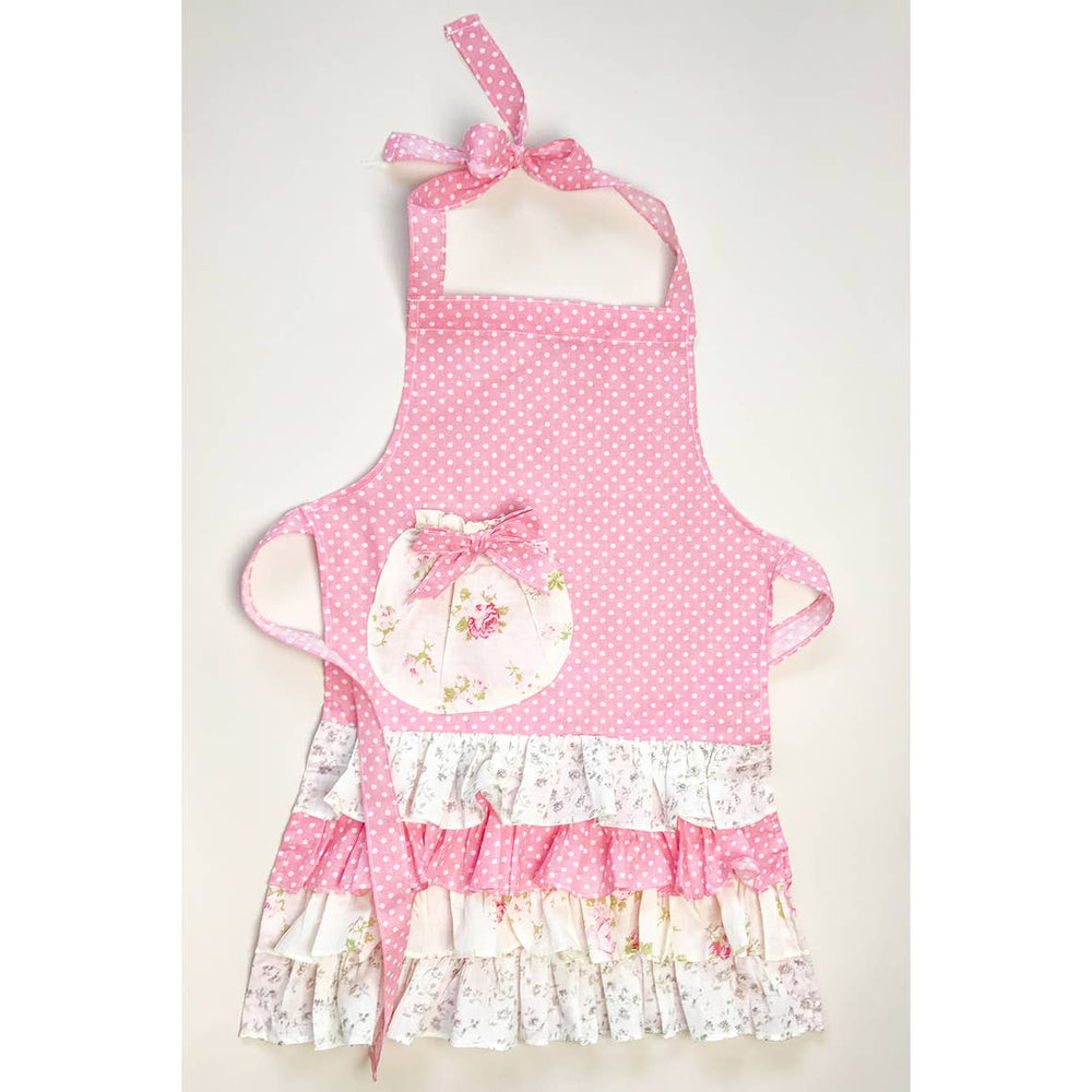 Children's Dots and Florals Apron