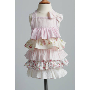 Children's Floral Pink and White Apron