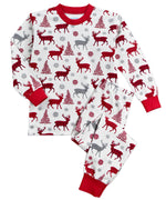 Winter Plaid Reindeer Pajamas