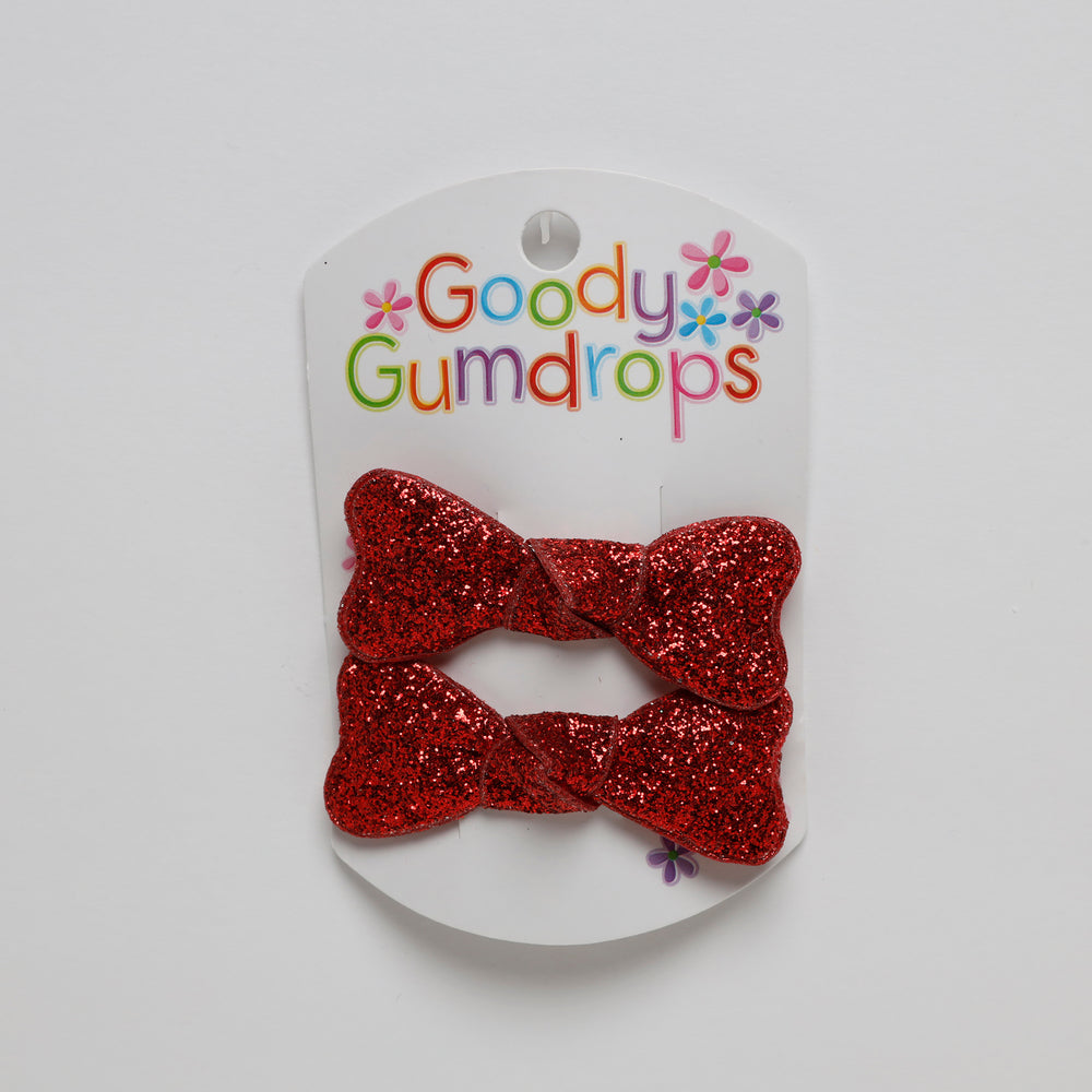 Glitter Bow Snaps