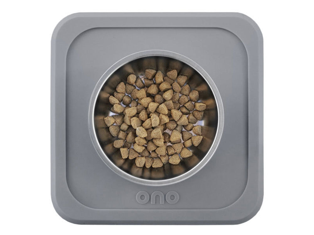 Single Non-Slip Pet Bowl and Mat