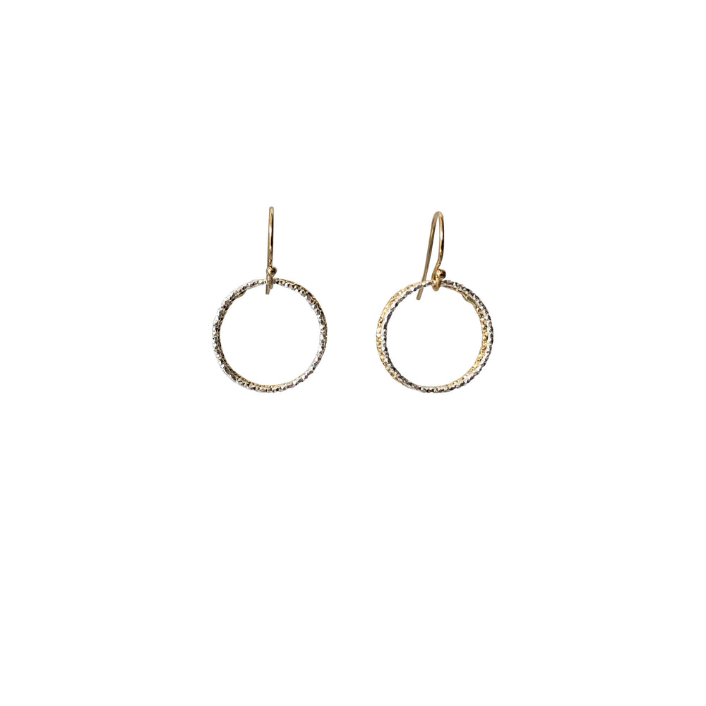 Double Ring Hoop Drop Earrings