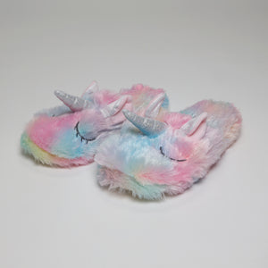 Unicorn Fuzzy Slippers