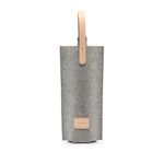 Cozy Carrier Solo - Granite Felt Natural Leather