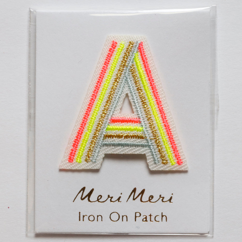 Iron On Rainbow Letters and Patches