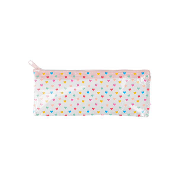 Tiny Hearts Vinyl Pixie Pouch