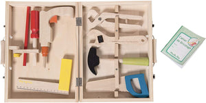 """I Am Working"" Wooden Tool Valise Set"