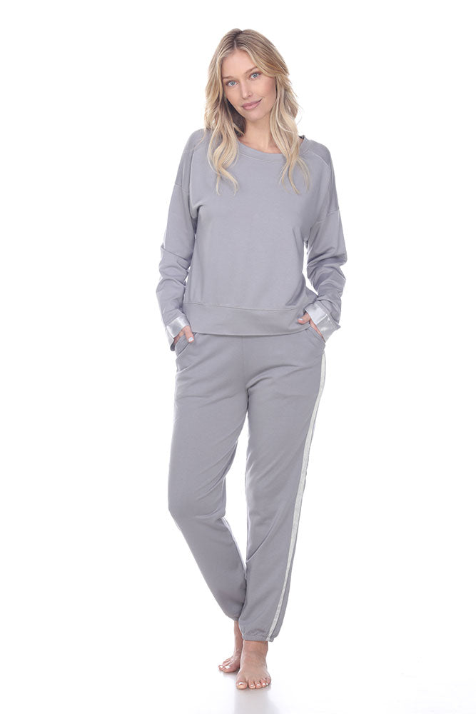 Blair French Terry Sweat Pant With Satin Trim