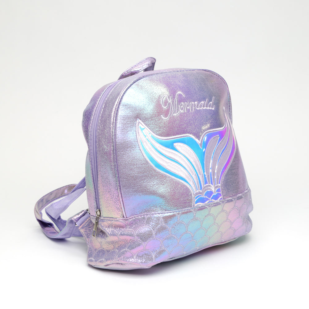 Mini Mermaid Metallic Backpack
