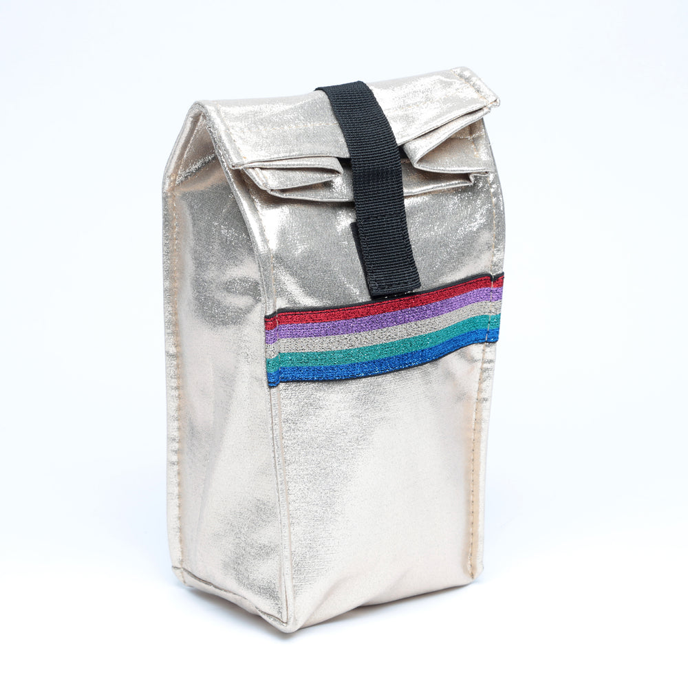 Metallic Snack Bag with Rainbow Taping