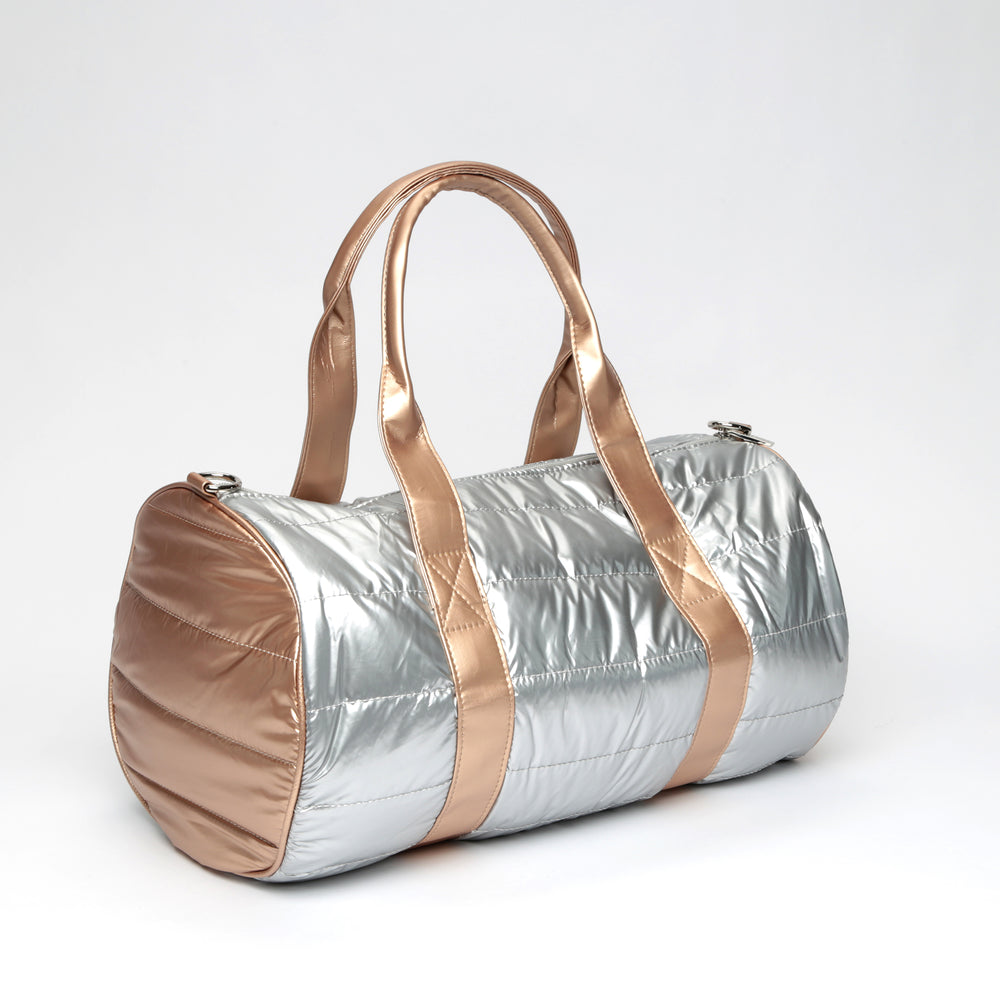 Metallic Nylon Quilted Duffle