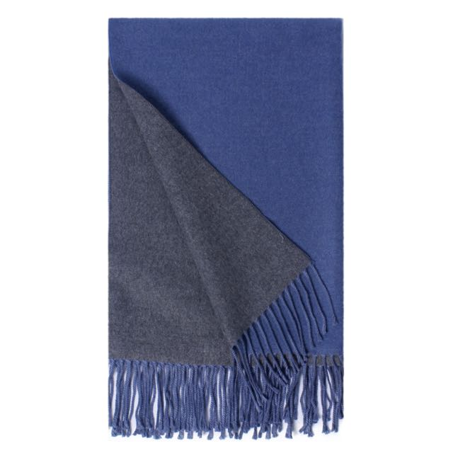 Honeybun Two-Tone Scarf with Fringe