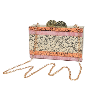 Be-you-tiful Sparkle Lucite Clutch