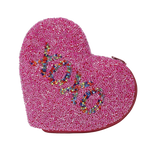 Beaded XOXO Heart Shaped Coin Purse
