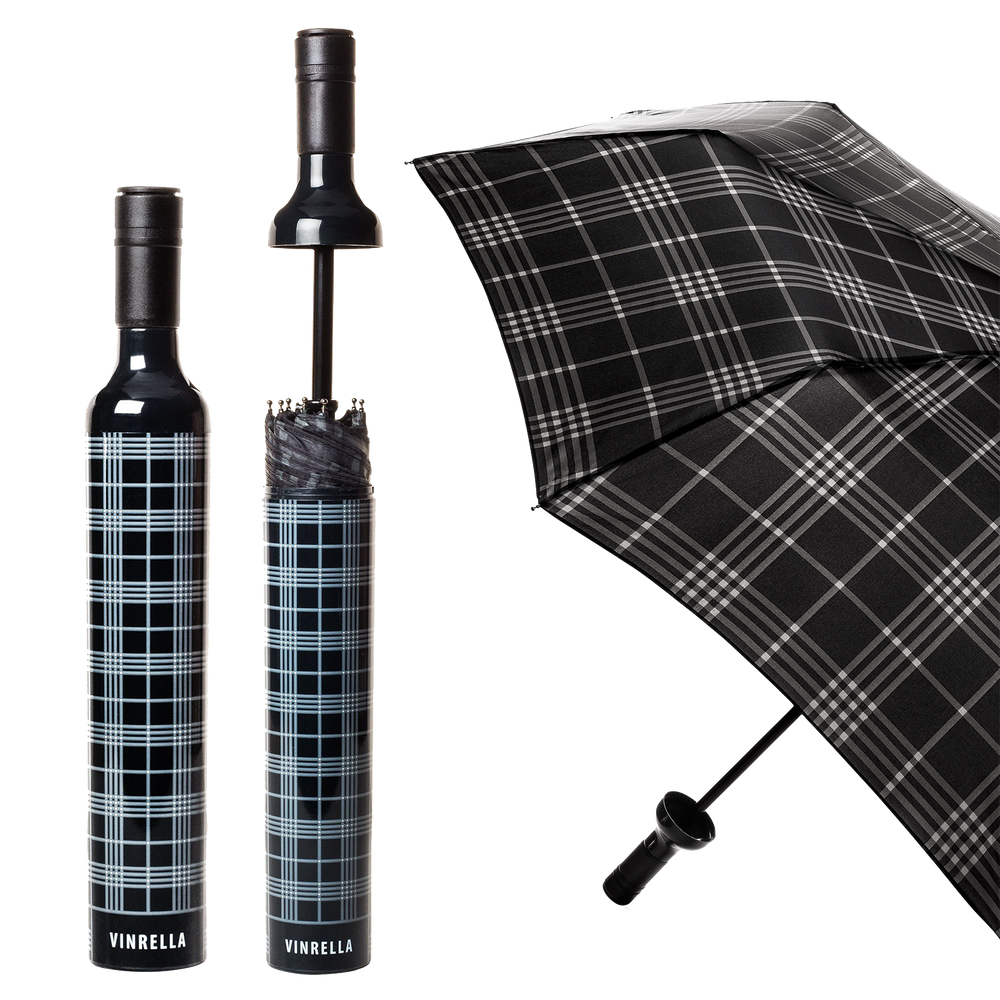 Black Plaid Umbrella
