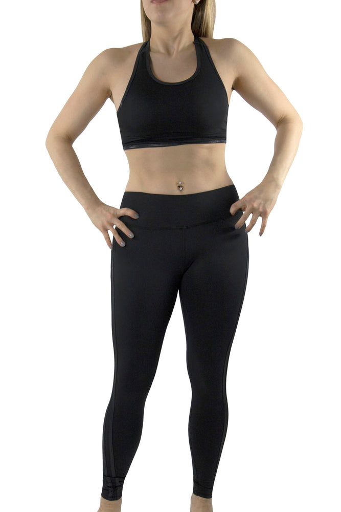 T-Back Sports Bra with Shine Binding