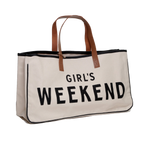 "Canvas Tote - ""Girls Weekend"""