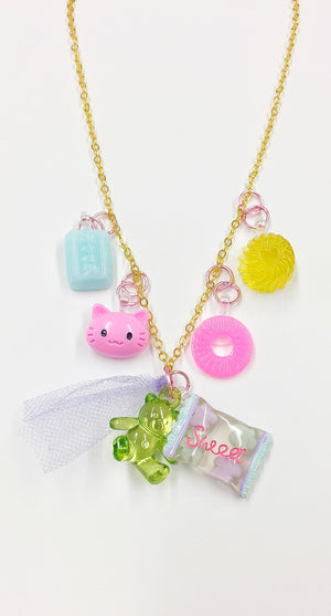 Candy, Kitten Charm Necklace