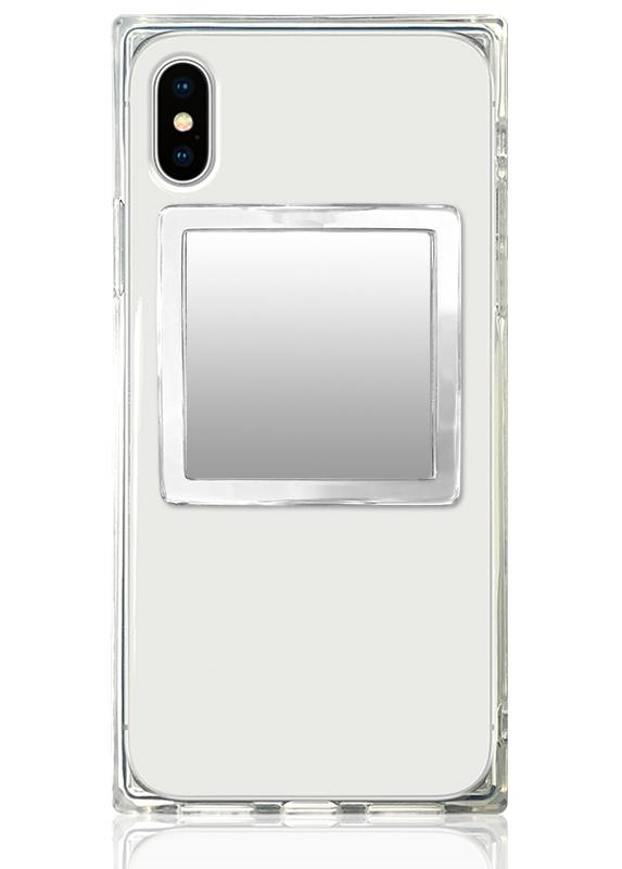 Clear Lucite Square Phone Mirror