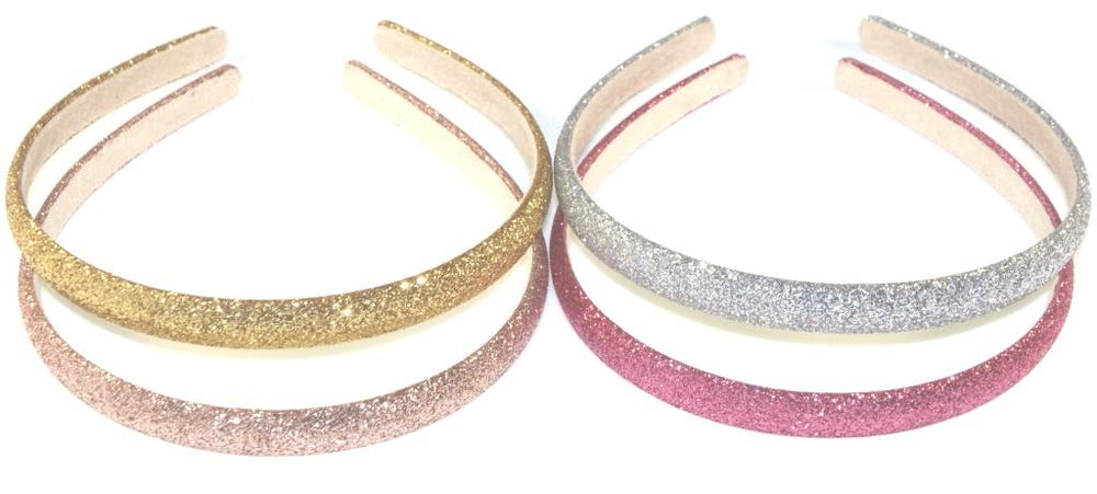 Glitter Suede Lined Alice Headband