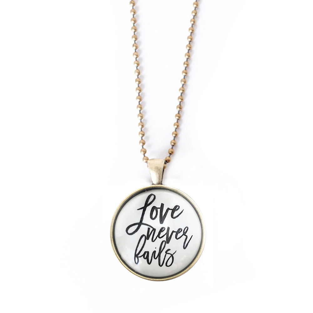Love Never Fails Necklace