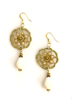 Beaded Flower Earring