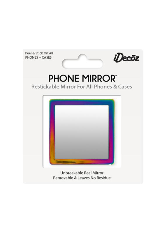 Iridescent Square Phone Mirror