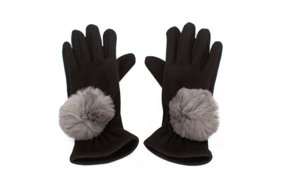 Pompoms Faux Fur Gloves