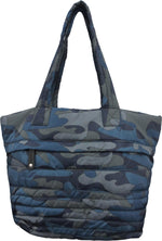 Large Printed Camo Puffer Tote