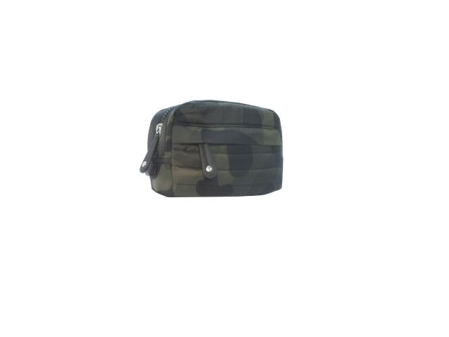 Quilted Camo Printed Nylon Cosmetic Case