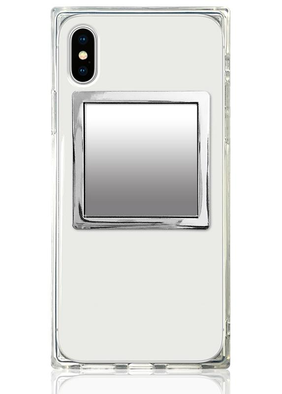 Silver Square Phone Mirror