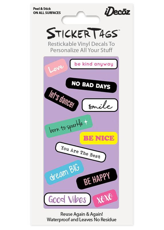 Happy Sticker Tags