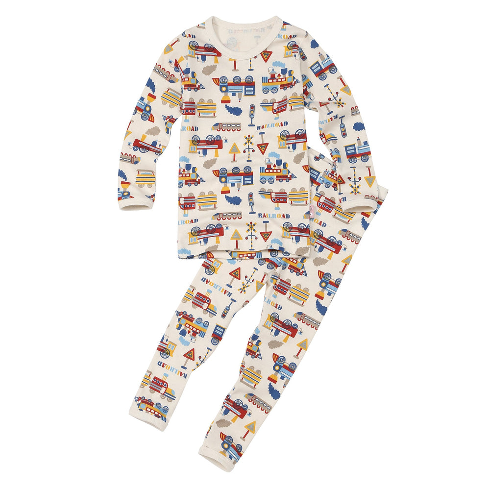Kids Pajama and Matching Doll Set - Train World