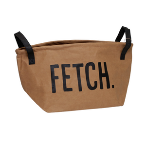 "Washable Paper Storage Tote - Kraft - ""Fetch"""