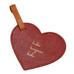 """Hello, Bonjour, Hola"" Heart Luggage Tag"
