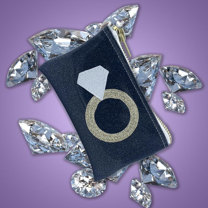 Diamond Ring Keychain Clutch
