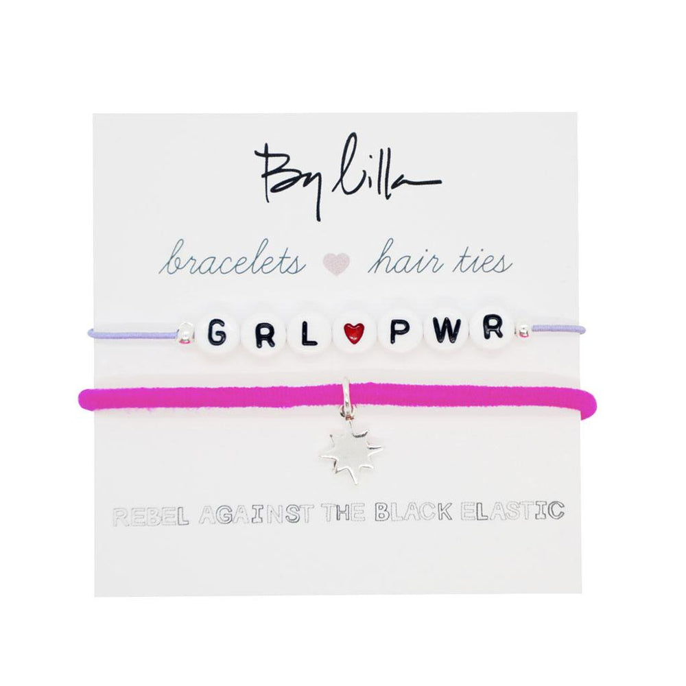 Words Bracelets & Hair Ties