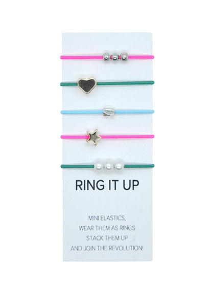 Heart and Star Ring It Up Elastics