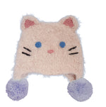 Kitty Cat Earflap Beanie Hat