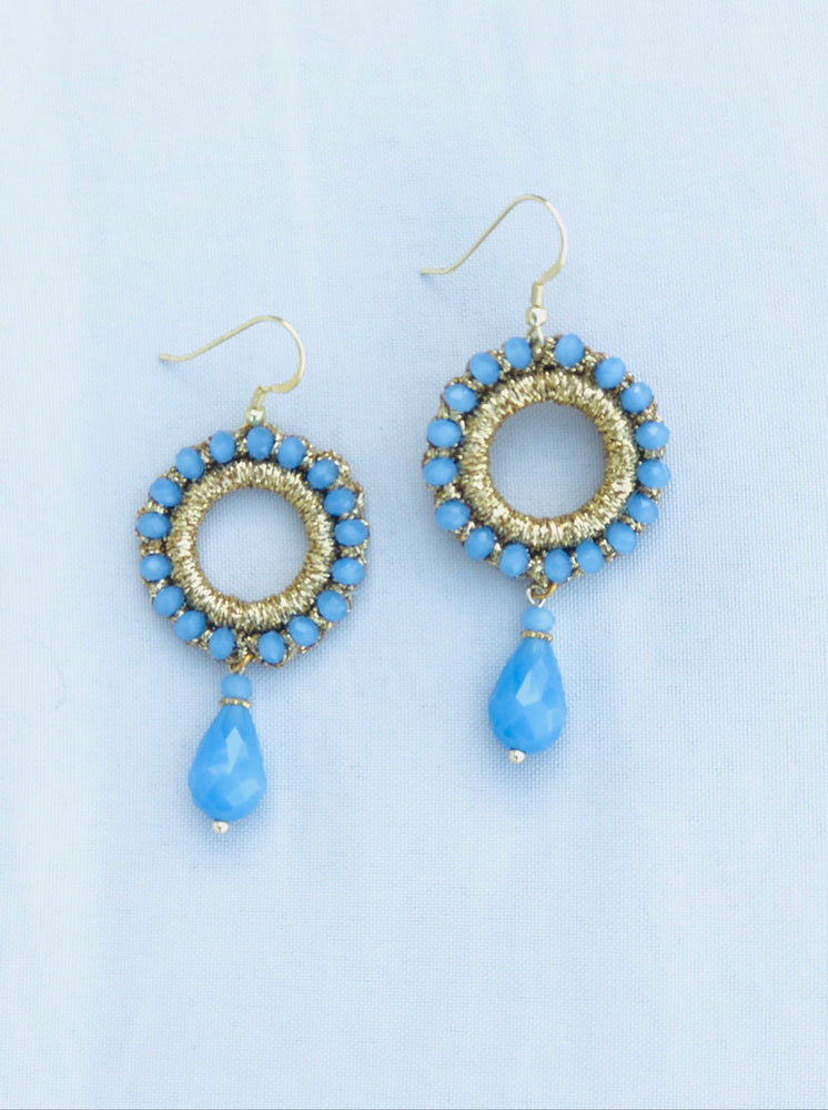 Beaded Ring Earrings