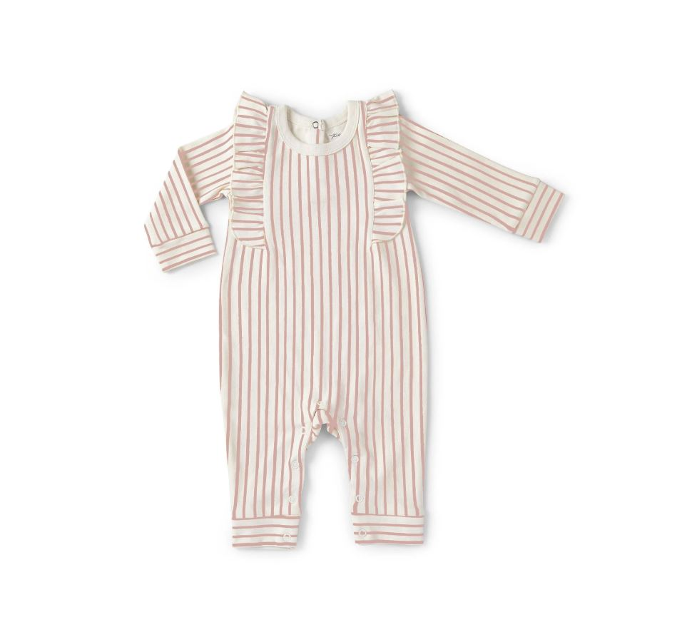 Stripes Away Ruffle Romper
