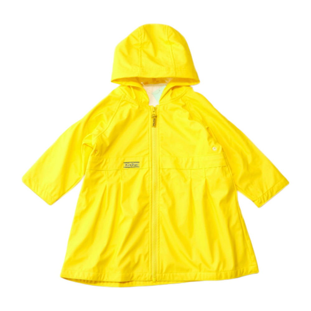 Boys Solid Yellow Raincoat
