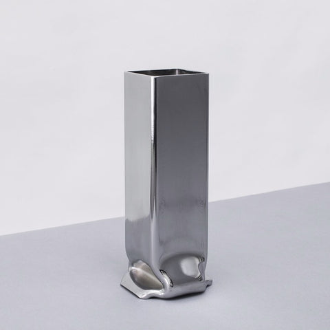 Pressure Vase Square  Tall  Chrome