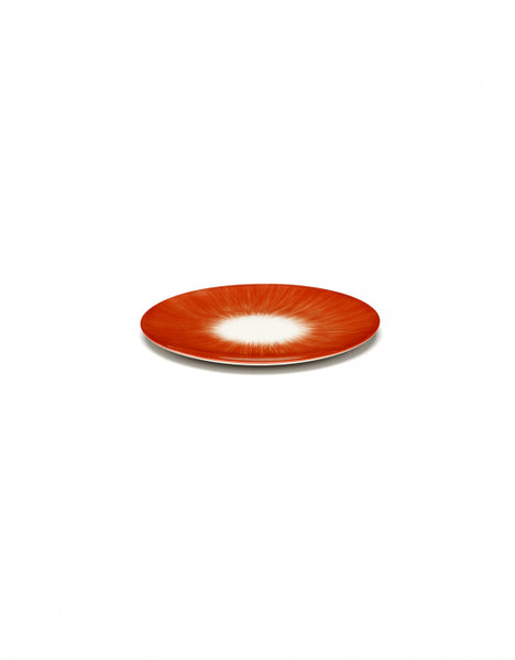 DÉ PLATE D14 CM  OFF-WHITE/RED VAR 5R
